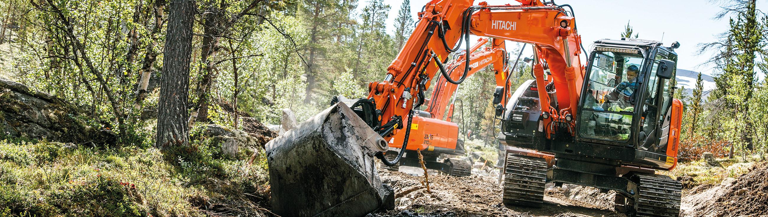 Экскаваторы для лесной промышленности Hitachi
