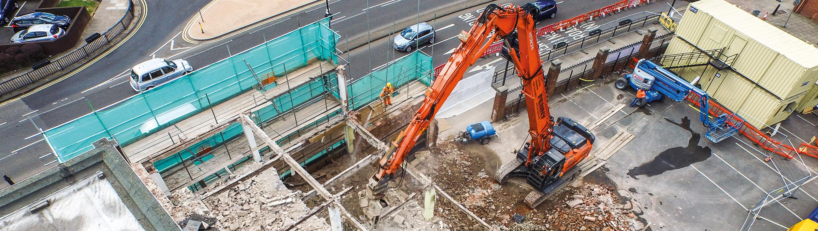 Экскаваторы для демонтажных работ Hitachi